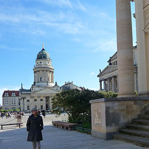 Berlin Gendarmenmarkt historic place with cathedral