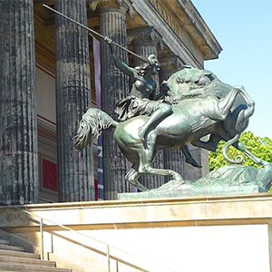 Historical horse rider statue Berlin