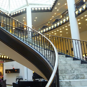 Staircase location in modern fashion mall Berlin