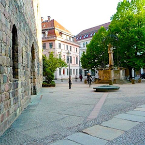 Medieval square location Berlin