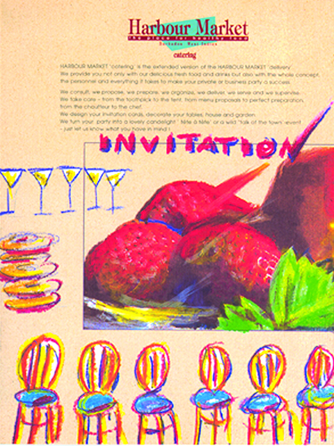 Illustration advertising catering